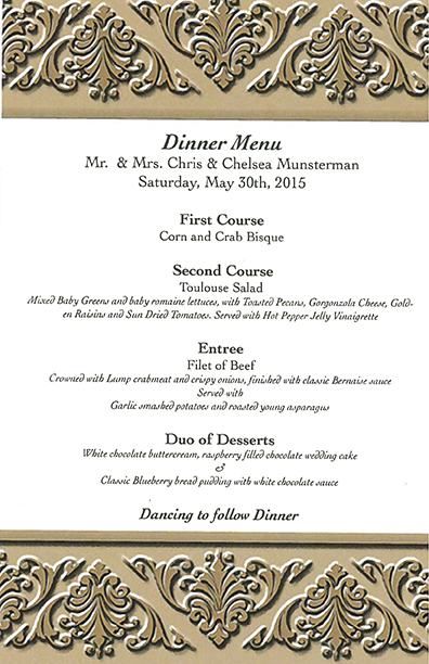 Munsterman Menu